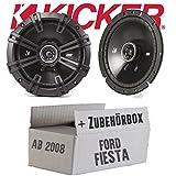 Kicker DSC 670 | 16cm Koax Lautsprecher - Einbauset für Ford Fiesta MK7 Front Heck - JUST SOUND best choice for caraudio