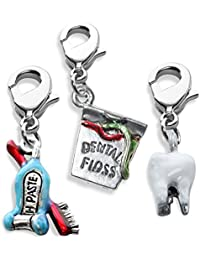52746fe2528d51 whimsical gifts dentista fascino 3PK Bundle (filo interdentale, Tooth paste  & Brush, Tooth
