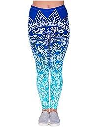 CHIC DIARY Damen bunt Sport Strumpfhose Leggings mit muster Fitness Yoga  Joggen Pants Hose Mehrfarbig One… cffda8aacc