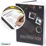 beneart Kochbuch zum Selberschreiben - Lieblingsrezepte - Rezeptbuch Selbstgestalten - inkl. Register (Din A5), Farbe: honeste, 1 Stück