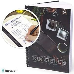 beneart kochbuch zum selberschreiben lieblingsrezepte rezeptbuch selbstgestalten inkl. Black Bedroom Furniture Sets. Home Design Ideas