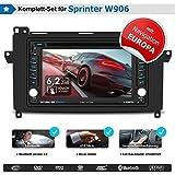 2DIN Autoradio CREATONE V-336DG für Mercedes Sprinter W906 (ab 2006, mit Audiosystem 5 und 20) mit GPS Navigation (Europa), Bluetooth, Touchscreen, DVD-Player und USB/SD-Funktion