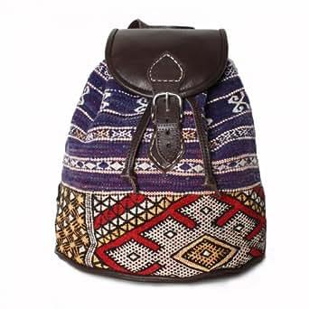 Handmade Leather and Kilim Backpack, Zoumi