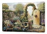 Blechschild Blumenladen Deko Garten Tor Blumen Wand Metall Schild 20X30 cm