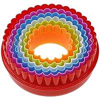 ?1jeu plástico Biscuit Moldeo molde redondo para tartas de horno herramienta Color aleatorio
