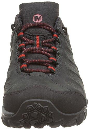 Merrell - Chameleon Shift Vent - Chaussure de randonnée tige haute - Homme Noir (Black/Red)