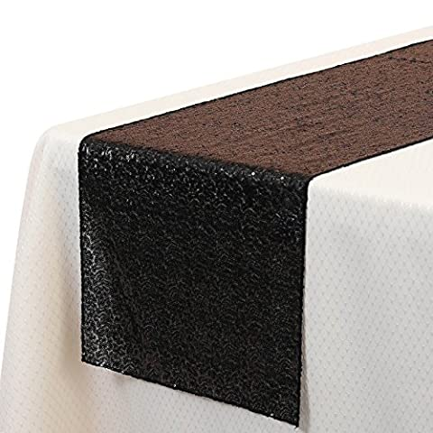 VEEYOO 35 x 275 cm Sparkly Glitter Sequin Table Runner - Wedding Party Dining Kitchen Cloth Linens,