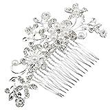 Atemberaubende Kristall und Perle Muster, Haar Kamm für Brautschmuck, Ball, Vintage, Retro, Classic Frisuren