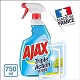 Ajax Triple Action Nettoyant Vitre Spray 750 ml - Lot de 4