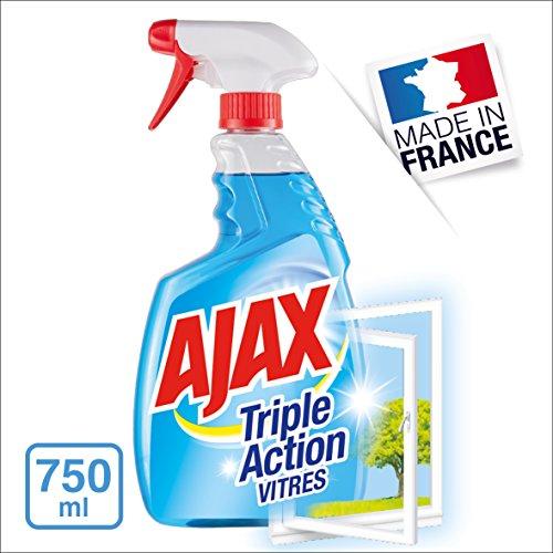 AJAX Tripla Azione detergente per vetri Spray 750ml-Set di 4