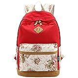 Partiss Damen Schwalbe Muster Vintage Casual Canvas Haltbare Segeltuch Taschen Reisetaschen Sporttaschen Schultaschen Rucksack Wanderrucksack Multifunktionsrucksack(One Size,#6)