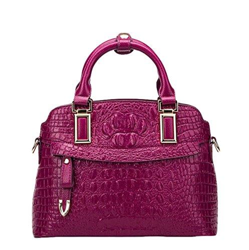 Frauen Knödel Tasche Leder Handtasche Mode Schultertasche Messenger Tasche Freizeit Wild Einfach Purple