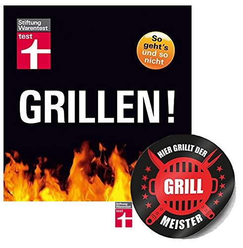 Stiftung Warentest Grillen! So geht's und so Nicht Taschenbuch + Grillmeister Sticker by Collectix