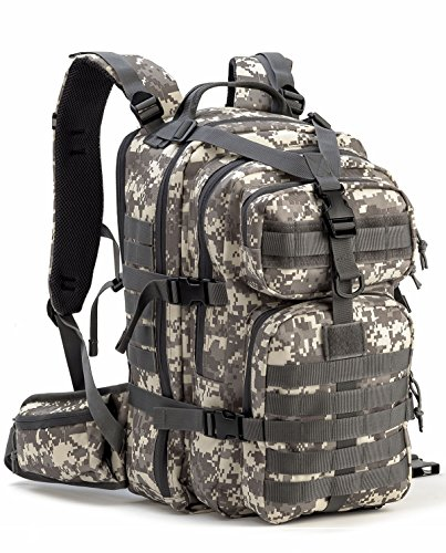 Mens Navy Blue Dog (Gelindo Military Tactical Backpack, Hydration Backpack, Army Molle Bug-out Bag, Small Rucksack for Hunting, Survival, Camping, Trekking, 35L)