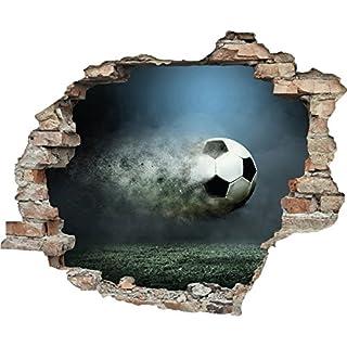 3D-Effekt Wandtattoo 'Fast Ball'   Fußball   EM-Artikel 2020   Europameisterschaft   Aufkleber   Durchbruch   Wandsticker   Tattoo, Größe:60x50 cm
