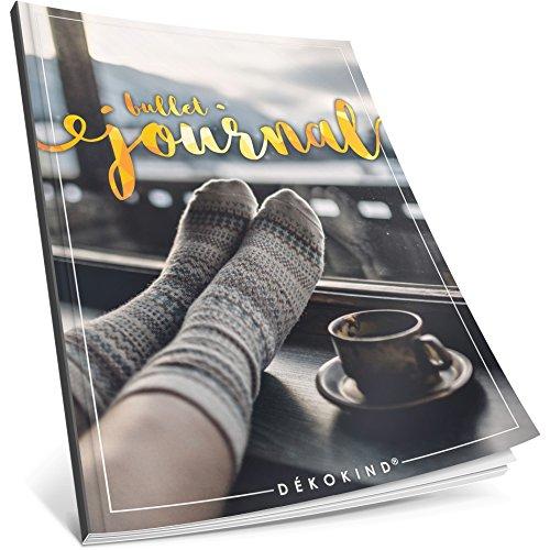 Dékokind® Bullet Journal: Ca. A4-Format • 100 Seiten, Punktraster Notizbuch mit Register • Dotted Grid Notebook, Punktkariertes Papier, Zeichenbuch • ArtNr. 32 Winterlich • Vintage Softcover por Dékokind® Journals