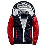 Luckycat Herren M-5XL Hoodie Winter warme Fleece Zipper Jacke Outwear Mantel Mode 2018