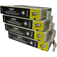 4 Black CiberDirect High Capacity Compatible Ink Cartridges for use with Epson WorkForce WF-3540DTWF Printers.