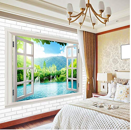 Nevso 3D Tapete Wandmalerei Fresko Wandaufkleber Custom 3D Wandbild Tapeten Tv-Kulisse Fenster Landschaft 3D Wallpaper Landschaft 3D Wandbild Tapeten400cmX280cm
