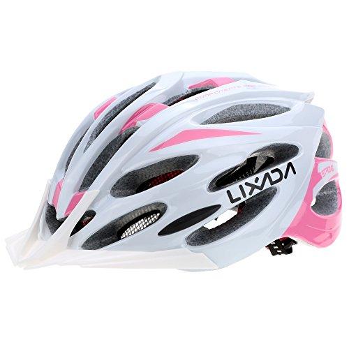 Lixada casco da bici ciclismo unisex 24 vents ultraleggero integralmente modellata eps sportivo con fodera tampone