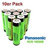 Panasonic NCR18650B Batterie avec 3400mAh 3.6V–Idéal pour SubOHM Dampfer cigarette électronique Power Tools Flat Top Lot de 10