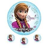 Tortenaufleger Geburtstag Tortenbild Zuckerbild Oblate Motiv: Disney Frozen Anna (Zuckerpapier)