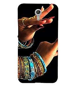 PrintVisa Indian Girl Bangles Dance Design 3D Hard Polycarbonate Designer Back Case Cover for Lenovo Zuk Z1