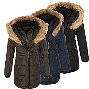 Geographical Norway Damen Jacke Winterparka Belissima XL-Fellkapuze