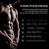 Smart Fitness-Gerät EMS Bauchmuskel Trainingsmaschine, Bauchgürtel Muskelaufbau ABS, Wireless Portable Bauch/Arm/Bein Trainer für Männer oder Frauen, von Hommie, Schwarz - 5