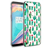 Eouine OnePlus 5T Hülle, Ultra Slim Soft TPU Muster SchutzHülle Silikon Stoßfest Bumper Case Cover für OnePlus 5T (6 Zoll) Smartphone (Kaktus)