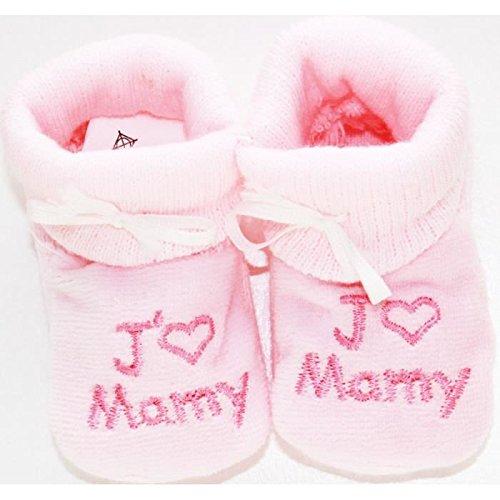 """Paire CHAUSSONS bébé NEUF , Idée cadeau naissance """"Rs-Jmamy"""" chaussettes NISSANOU"""