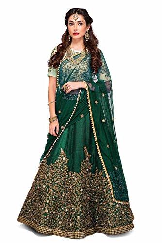03e0d1f27b Siddeshwary Fab Women s Taffeta Silk Anarkali Gown(All Trilok ...