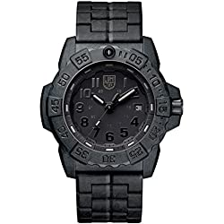 Luminox new NavySEAL carbon compound 3500 series Watch with carbon compound Case Black|Black Dial and PC/Carbon Bracelet Strap XS.3502.BO