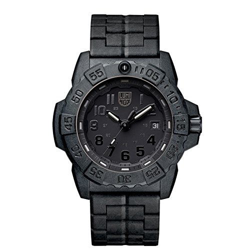 Luminox XS.3502.BO NavySEAL carbon compound 3500 series Watch with carbon compound Case Black|Black Dial and PC / Carbon Bracelet Strap
