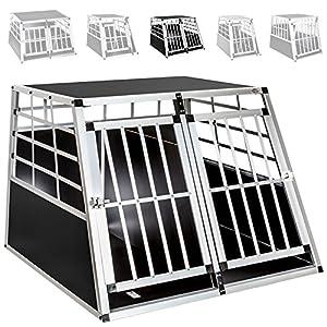 TecTake Cage Box Caisse de Transport pour Chien Mobile Aluminium - diverses tailles au choix -