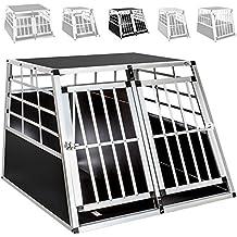 TecTake Transportín de aluminio para perros - varias tamaños - (97x90x69,5cm | no. 400652)