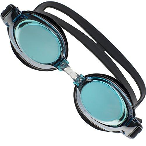 Premium Komfort Schwimmbrille für Männer, Frauen und Kinder, Bester Anti-Beschlag- + UV-Schutz, Wasserdichte Schwimmbrille im Set für Erwachsene, Inklusive GRATIS Etui und drei anpassbaren Nasenstegen