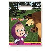 6 Bolsas regalo Masha y el oso - Única