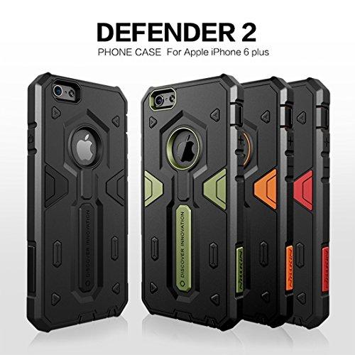Phone case & Hülle Für iPhone 6 Plus & 6s Plus Tough Defener II Case Shockproof TPU + PC Kombi-Gehäuse ( Color : Orange ) Black
