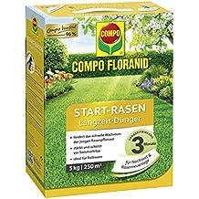 Compo floranid Start de césped largo tiempo de Abono 5kg óptima de largo tiempo de alimentación 3meses rápida y segura y crecimiento