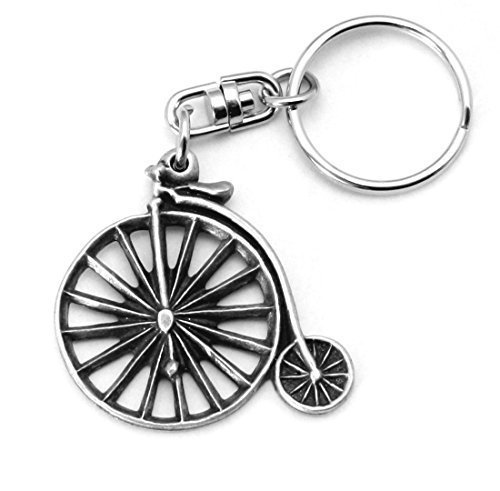 le Key-ring (keychain) in Fine English Pewter, Handmade, Bike, Cycling (h) by Hoardersworld (Penny-ring)