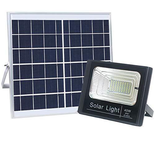 Solar Flood Light, 100W Solar Garden Light Mit Fernbedienung 5000 Lumen Control Timing Funktion Outdoor Sicherheits-Licht Für Garten, Garage, Park, Teich,40W - 40w Flood