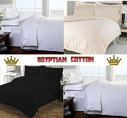 [hachette] 3PC 200TC [CHOCOLATE/DOUBLE SIZE] 100% EGYPTIAN COTTON DUVET COVER BEDDING BED DUVET SET WITH PILLOWCASES 200 THREAD COUNT (DARK BROWN)
