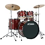 Tama RM52KH6-RDS Rhythm Mate Schlagzeug Set (5-teilig) mit 55,8 cm (22 Zoll) Bassdrum inkl. dreiteiligem Beckenset/6-teiliger Hardware rot