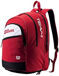 Mochila de tenis Wilson Tour Team, colour rojo, 44 x 33 x 26 cm, 30 Liter, WRZ890496, color Rojo - rojo, tamaño 44 x 33 x 26 cm, 30 Liter, volumen liters|30.0