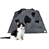 ANG Cat Activity Play Mat,Collapsible Pet rug Training Scratching grooming Bed Mat