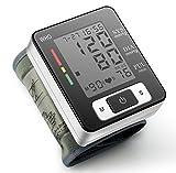 Misuratore di Pressione Sanguigna da Polso Monitor di Pressione Sfigmomanometro Elettrico Misuratore Digitale di Pressione sia per Casa che Viaggio