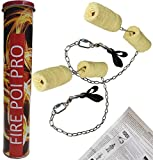 Paire De Bolas De Feu Pro Double Xl + Extincteur- Mèches Kevlar 4 X 7cmx75cm - Double Poignées - Emerillon à Roulement - Maillon Rapide - Chaîne Soudée