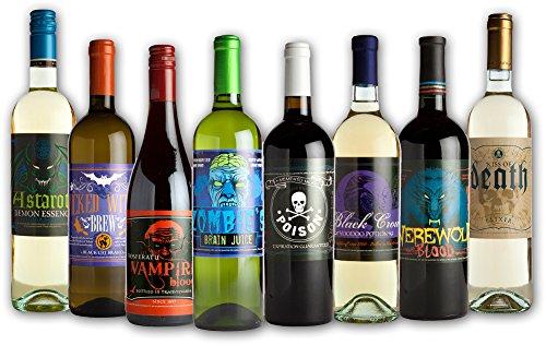 Morbid Halloween Flaschenetiketten Wein ()