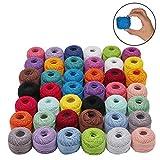 42 Pcs Fil de Crochet - 5g Fil de Coton pour Crochet - Fil Crochet - Fil à Coton Idéal pour Les débutants et Les Passionnés de Crochet Expérimentés (3108 mètres) - 2 Pcs Crochet à Double...